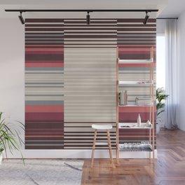 Bauhaus Stripe in Red Multi Wall Mural