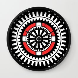 Abstract mechanical object Wall Clock