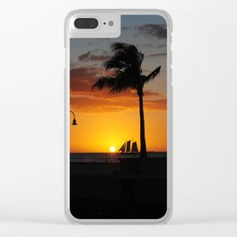Sunset in Key West, FL Clear iPhone Case