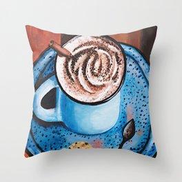 Cappucino Time Throw Pillow