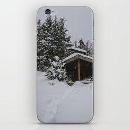 Winter at Lonesome Lake Hut iPhone Skin
