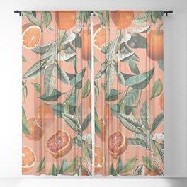 Vintage Fruit Pattern XII Sheer Curtain