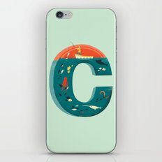 Plenty of Fish in the C  (blue) iPhone Skin