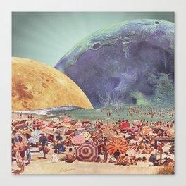 Lunar Beach Canvas Print