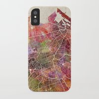 edinburgh iPhone & iPod Cases featuring Edinburgh by MapMapMaps.Watercolors