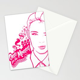 One for the Money Stationery Cards