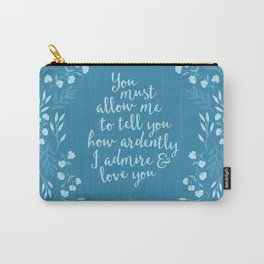 Jane Austen Pride and Prejudice Quote Carry-All Pouch