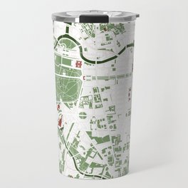 Berlin city map minimal Travel Mug