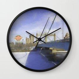 Grain Belt Beer on the Mississippi Wall Clock