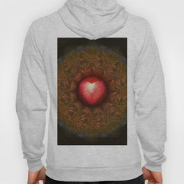 Valentine Heart Mandala Abstract (Love Overcomes the Darkness) Hoody
