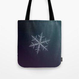 Real snowflake macro photo - Neon Tote Bag