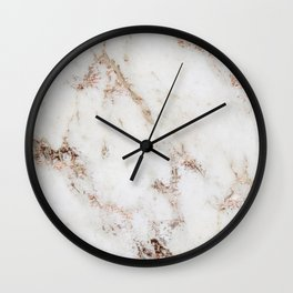 Artico marble - rose gold accents Wall Clock