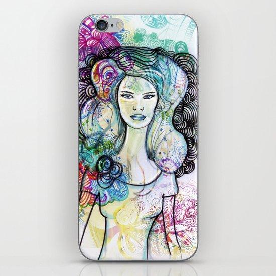 doodle girl iPhone & iPod Skin