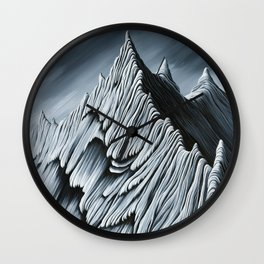'Strange Peaks and Ridges' Wall Clock