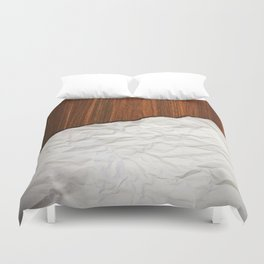Wooden Crumbled Paper Duvet Cover