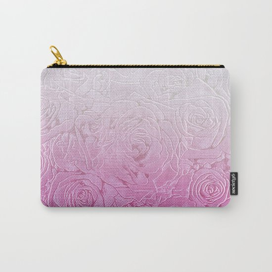 roses and pink gradient Carry-All Pouch