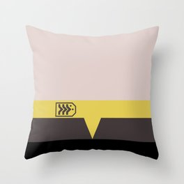Miles O'Brien - Minimalist Star Trek DS9 Deep Space Nine - Chief  - startrek - Trektangles Throw Pillow