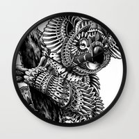 ornate Wall Clocks featuring Ornate Koala by BIOWORKZ