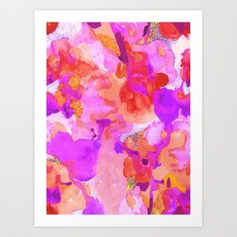 Lava Elements (Cosmic Watercolour) Art Print