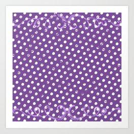 Crunchy dots Art Print
