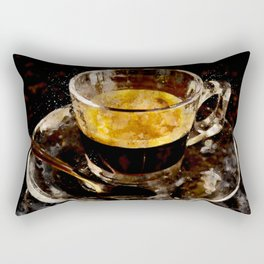 Espresso - watercolor Rectangular Pillow