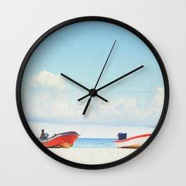 Lonely Skies - Playa del Carmen Wall Clock