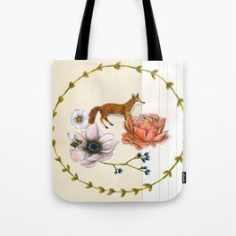 Fox in the Flowers - Flora & Fauna Tote Bag