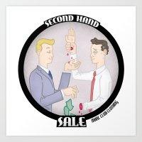 Second Hand Sale Art Print