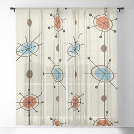 Atomic Era Satellites Sheer Curtain