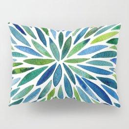 Watercolor Burst – Blue & Green Pillow Sham