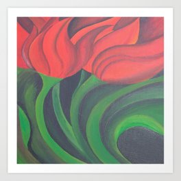 Red Tulip Diptych Art Print