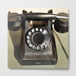 Retro rotary dial telephone Metal Print