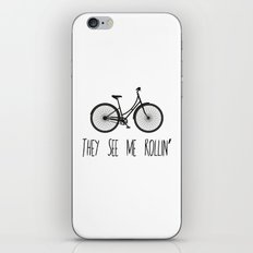 They See Me Rollin' Bicycle - Women's Cruiser City Bike Cycling  iPhone & iPod Skin