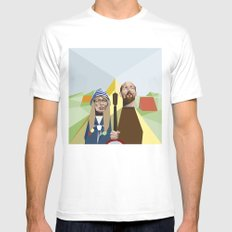 Nuts in May (West Country Gothic) LARGE White Mens Fitted Tee