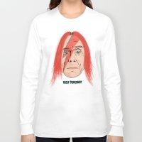 iggy Long Sleeve T-shirts featuring Iggy Stardust by Chris Piascik