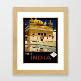 Vintage poster - India Framed Art Print