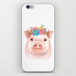Spring Pig iPhone Skin
