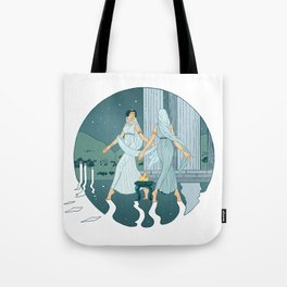 Dance at midnight Tote Bag