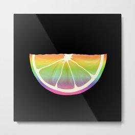 Citrus Rainbow Slice  Metal Print