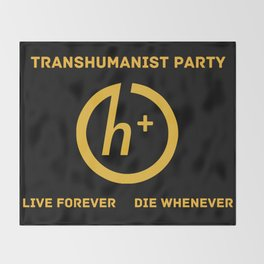 Transhumanist Party Throw Blanket