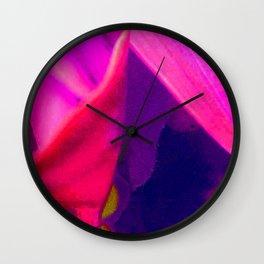 Hot Neon Flower Wall Clock