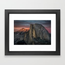 Half Dome Sunset 2 Framed Art Print