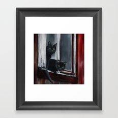Barn Cats Framed Art Print