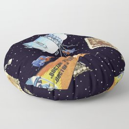 Gagarin space art #5 Floor Pillow