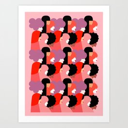 Together Girl Power - Pattern #girlpower Art Print