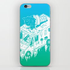 Melty Ice Cream Truck - Mint iPhone & iPod Skin