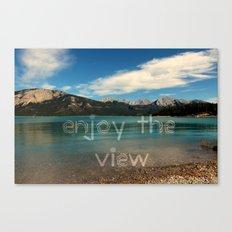 Enjoy the view Canvas Print