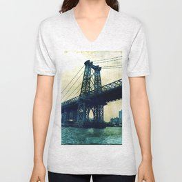 pylon williamsburg bridge Unisex V-Neck