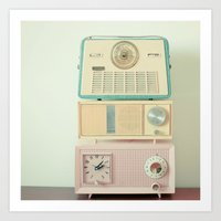 radio Art Prints featuring Radio Stations by Cassia Beck