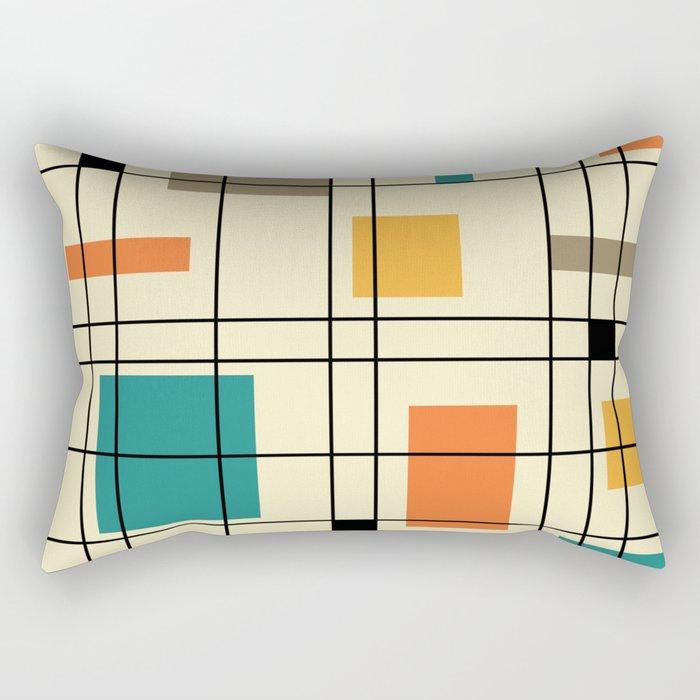 1950's Abstract Art Rectangular Pillow